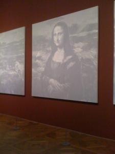 Yan Pei-Ming : Les Funérailles de Monna Lisa au Louvre du 12-02-2009 au 18-05-2009
