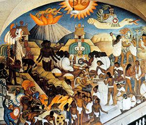 """""""Histoire du Mexique, de la Conquête à 1930"""" (1929-35) Palais présidentiel de Mexico"""
