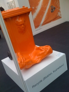Recycle (Blokhin, Kuznetsov), Container N°1, 2009, Plastic  Fiberglass, mixed Media, 110x80x100 cm, M&J Guelman Gallery © FIAC 2009