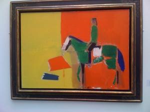 Nicolas de Staël (1914 Saunt-Pétersbourg - 1955, Antibes), Figure à cheval, 1954, huile sur toile, 73x100 cm, Galerie Jeanne-Bucher/Jaeger Bucher © FIAC 2009