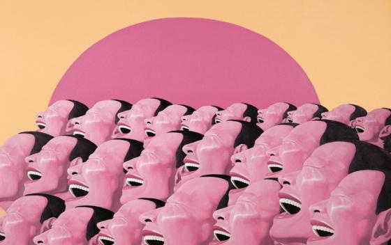 The Sun2000 acrylique sur toile collection privée © Yue Minjun