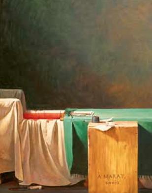 The death of marat2002 Huile sur toile 292 x 220 cm collection privée, pékin