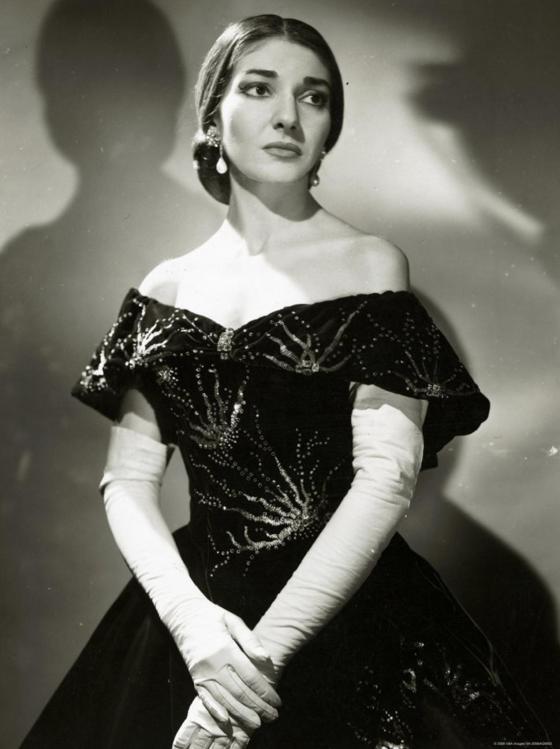 Maria Callas dans le rôle de Violettaau Royal Opera House de Londres (1958)