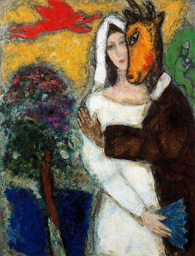 Marc Chagall, Songe d'une nuit d'été, 193ç, huile sur toile, 116,5 x 67,9 cm, Musée de Grenoble, don de l'artiste en 1951