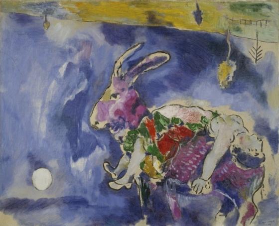 Marc Chagall, Le Rêve, 1927, huile sur toile, 81 x 100 cm, Paris, musée d'Art moderne de la Ville de Paris