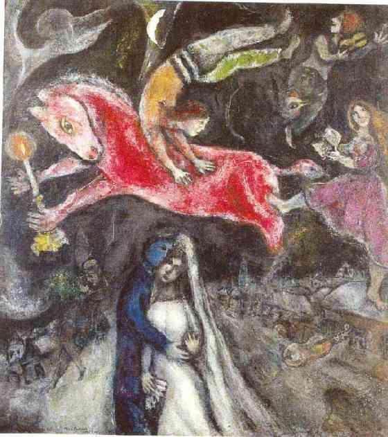 Le Cheval Rouge, 1938-1944, huile sur toile, 114 x 103 cm, Paris Centre Pompidou, Musée national d'art moderne/Centre de création industrielle, dation en 1988, en dépôt au musée des Beaux Arts de Nantes