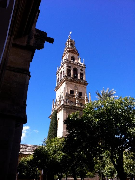 La Torre del Aminar de la Mosquée de Cordoue (clocher de 93 m de haut renfermant l'ancien minaret)