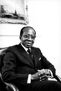 Léopold Sédar Senghor en 1987