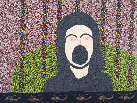 Tal Mazliach, Sans titre / Untitled, 2012 Peinture à l'huile sur bois / Oil on board, 120 x 90 cm © Tomer Gabay, Courtesy : Alon Segev Gallery & collection privée, Israël / Private collection Israël