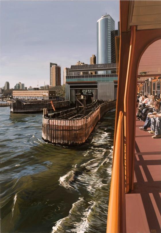 Estes, Staten Island Ferry Docking Manhattan, 2008