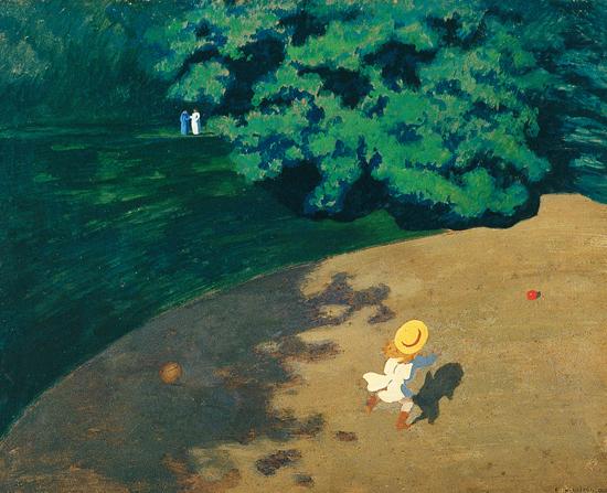 Félix Vallotton, Le Ballon, 1899, huile sur carton marouflé sur bois, 48 x 61 cm, Paris, musée d'Orsay, legs de Carle Dreyfus, 1953 © Rmn-Grand Palais (musée d'Orsay) / Hervé Lewandowski