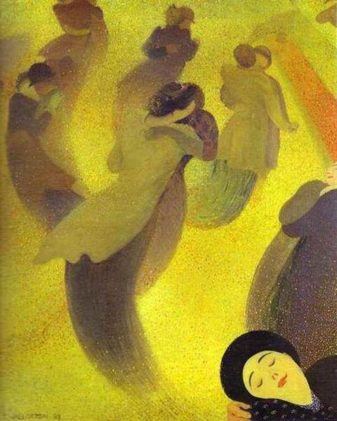 Félix Vallotton, La Valse, 1893, huile sur toile, 61 x 50 cm, Le Havre, MuMa - Musée d'art moderne André-Malraux, collection Senn © MuMa, Le Havre / photo Florian Kleinefenn