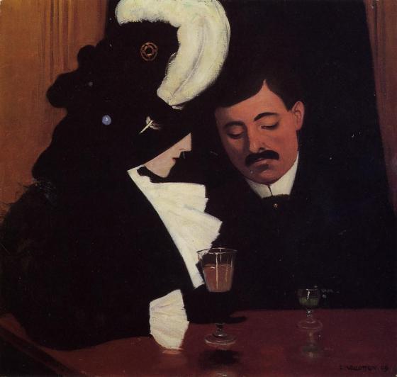 Félix Vallotton, Le Provincial, 1909, huile sur toile, 50 x 53 cm, collection particulière © collection particulière / photo Reto Pedrini, Zürich