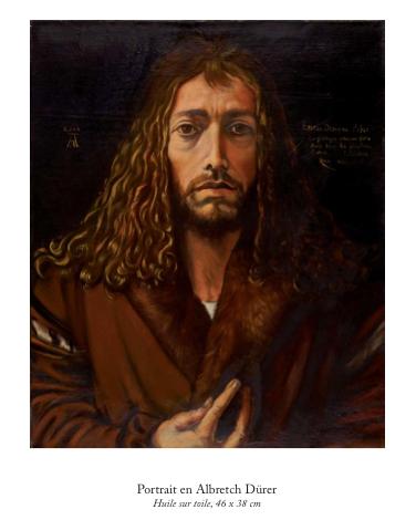 Alexandre Alfandari, Portrait en Albrecht Dürer, huile sur toile 46 x 38 cm