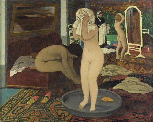 Félix Vallotton, Femmes à leur toilette, 1897, huile sur carton, 49 x 60,8 cm, Paris, musée d'Orsay © Fondation Félix Vallotton, Lausanne