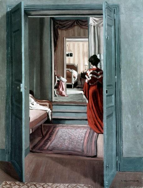 Félix Vallotton, Intérieur avec femme en rouge de dos, 1903, huile sur toile, 93 x 71 cm, Zurich, Kunsthaus Zürich, legs Hans Naef © Kunsthaus Zurich 2013 / droits réservés