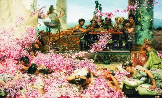 Sir Lawrence Alma - Tadena : Les roses d' Héliogabale, 1888. Huile sur toile, 214,4 cm x 132,7. Studio Sébert Photographes.