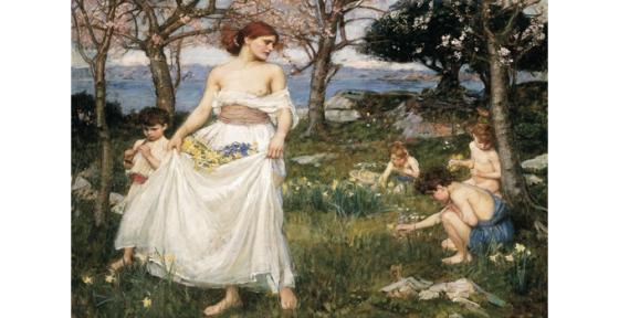 John W Waterhause : Le chant du printemps, 1913. Huile sur toile, 92,4 cm x 71,5. Studio Sébert photographes.