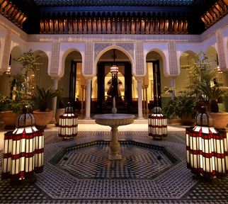 Palace hôtel La Mamounia à Marrakech.