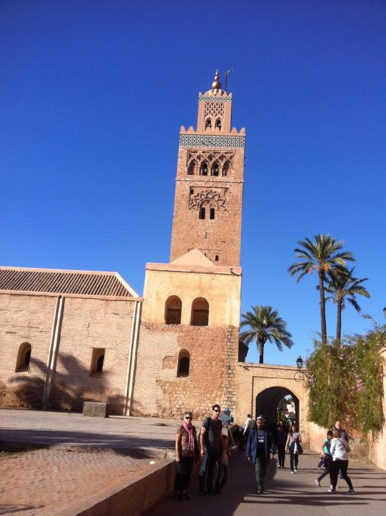 """La mosquée """"La Koutoubia"""", à Marrakech."""