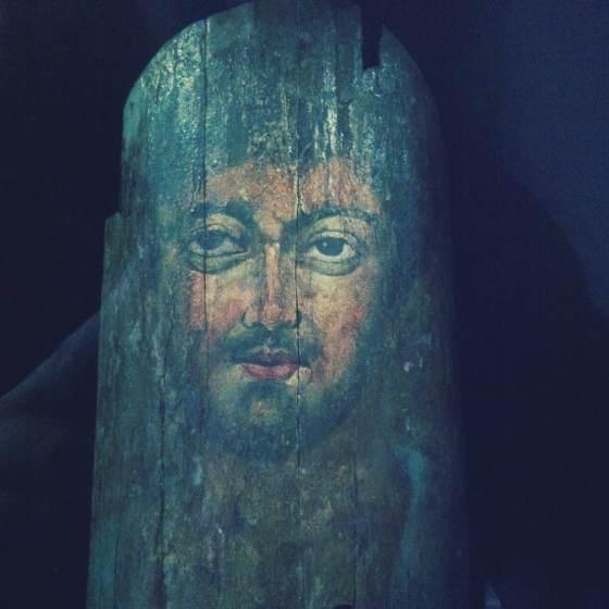 Portrait du Fayoum 100-300 ap.J.-C., Egypte période romaine, peinture à l'encaustique sur bois MONA