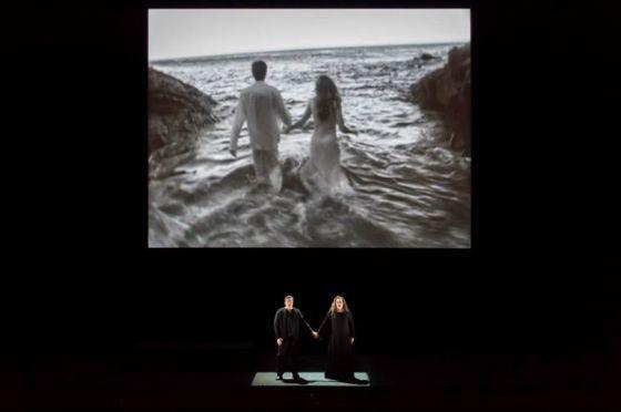 Robert Dean Smith, Violeta Urmana et vidéo de Bill Viola (© Charles Duprat / ONP)