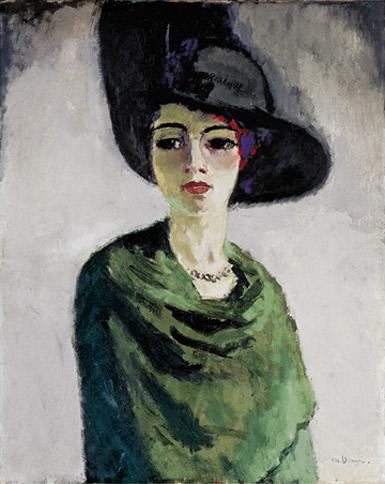 La Femme au Chapeau Noir par Kees van Dongen, L'Ermitage