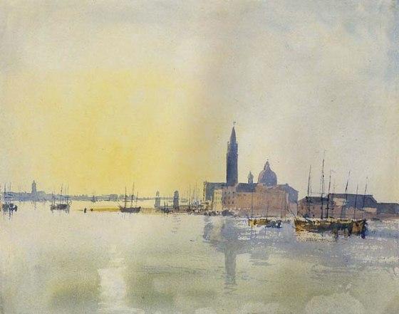 San Giorgio Maggiore, au petit matin  Aquarelle 1819 Tate Gallery, Londres