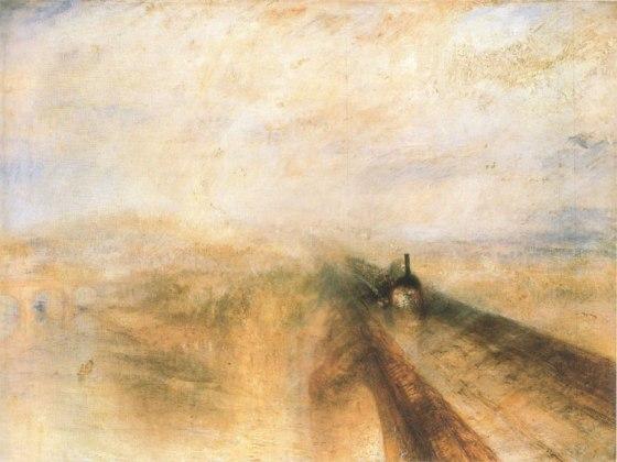 Pluie, vapeur et vitesse, le chemin de fer de la Great Western  1844 National Gallery, Londres